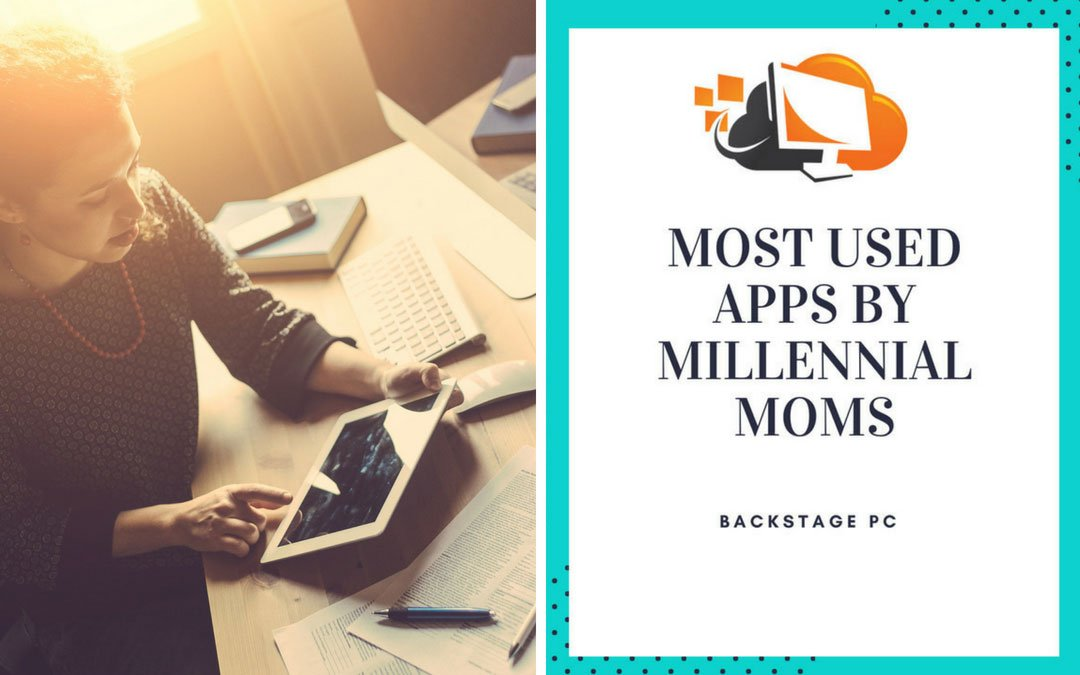 Most used apps by Millennial Moms